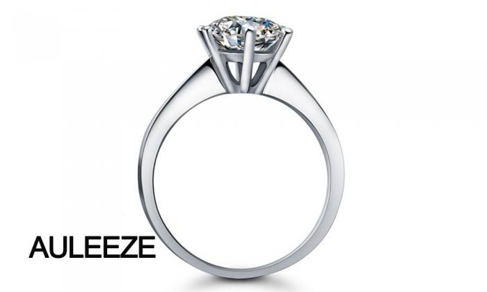 Classic 9K White Gold Engagement Ring